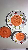 Посуда из керамики 18 штук. «VEGETABLE» цвет оранжевый