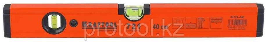 Уровень KRAFTOOL алюминиевый, 2 глазка, 40см, фото 2