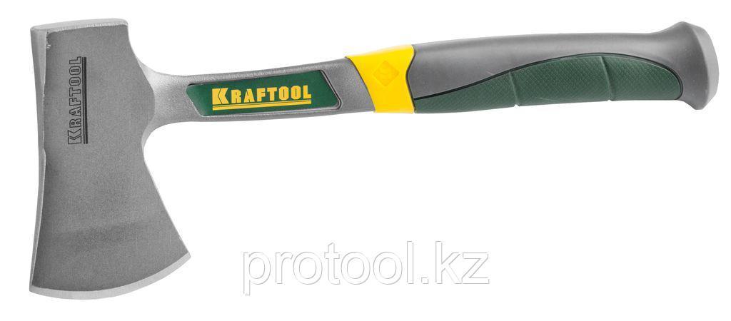 Топорик KRAFTOOL туристический цельнокованый с трехкомпонентной рукояткой, в чехле, 0,6 кг