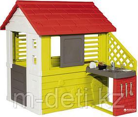 Игровой домик с кухней, красный 810713 Smoby