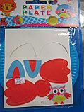 Аппликация для детей на бумажных тарелочках, Алматы, фото 2