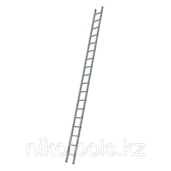 Алюминиевая приставная лестница Sibilo 18 Н=5,2/6,35м (121813)