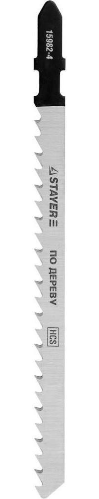"""Полотна STAYER """"PROFI"""", T301CD, для эл/лобзика, HCS, по дереву, EU-хвост., шаг 4мм, 100мм, 2шт"""