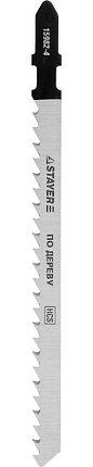 """Полотна STAYER """"PROFI"""", T301CD, для эл/лобзика, HCS, по дереву, EU-хвост., шаг 4мм, 100мм, 2шт, фото 2"""