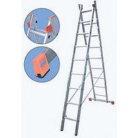 Алюминиевая лестница Dubilo 2х9, Н=2,7/2,6/4,35м (120571)