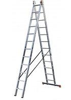 Алюминиевая лестница Dubilo 2х12, Н=3,55/3,4/6,05м (120588)