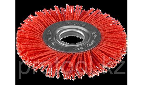 """ЗУБР """"ПРОФЕССИОНАЛ"""". Щетка дисковая для УШМ, нейлоновая проволока с абразивным покрытием, 150х22мм, фото 2"""
