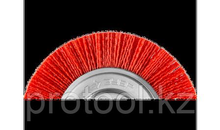 """ЗУБР """"ПРОФЕССИОНАЛ"""". Щетка дисковая для дрели, нейлоновая проволока с абразивным покрытием, 50мм, фото 2"""