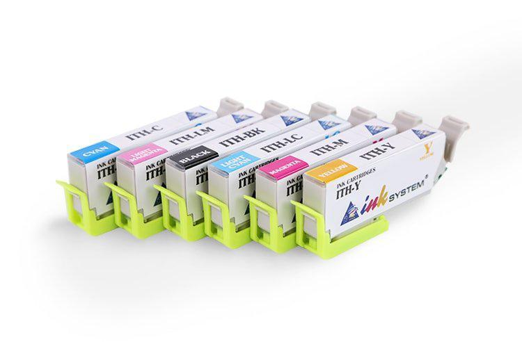 Комплект совместимых картриджей ITH (C/M/Y/Вк/LC/LM) для Epson Colorio EP-709A
