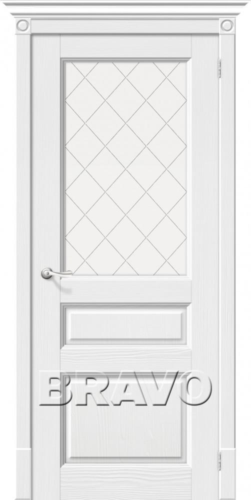 Межкомнатная шпонированная дверь Вилла ДО белый
