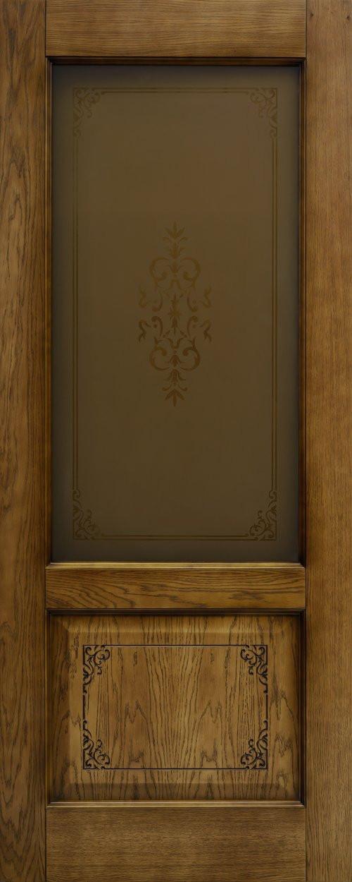 Межкомнатная шпонированная дверь Престиж Левша ДО орех