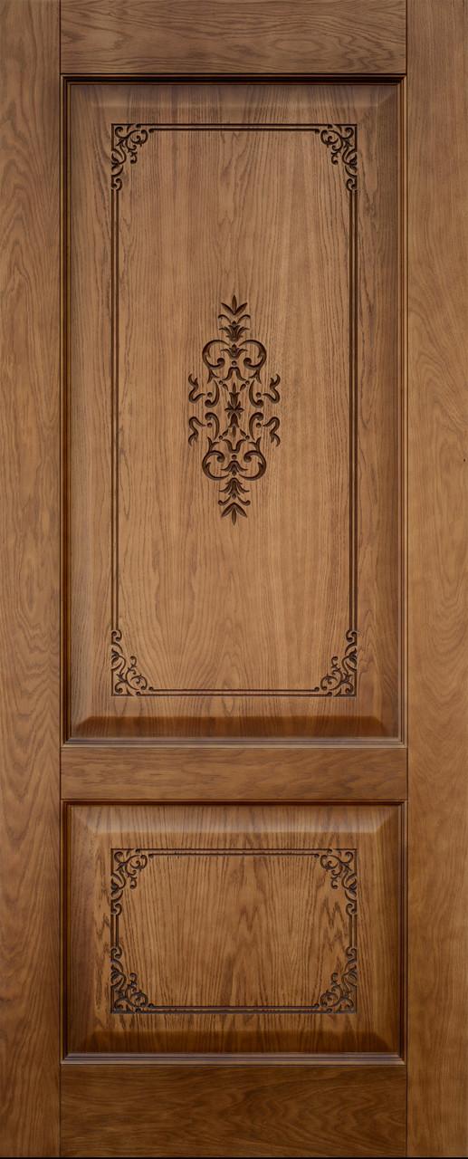 Межкомнатная шпонированная дверь Престиж ДГ орех