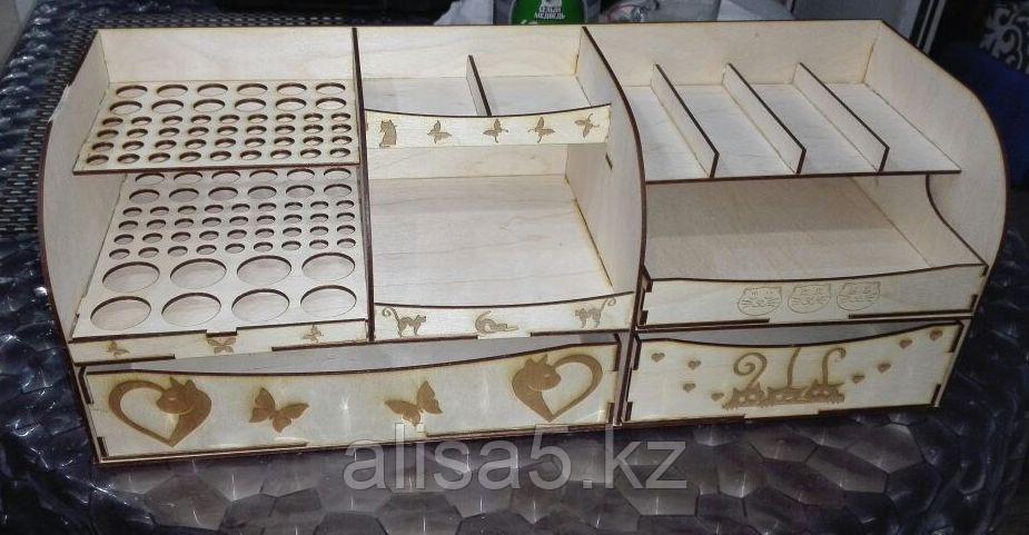 Органайзер для косметики и мелочей (дерево) 51 х 19 х 19 см
