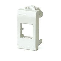 DKC 76607B Адаптер для информационных разъемов Keystone, белый, 1мод.