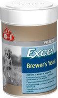 8in1 Excel Brewer's Yeast Пивные дрожжи, 140таб, Витаминная добавка для собак для кожи и шерсти