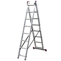 Алюминиевая лестница Corda 2х8 Н=2,25/2,15/3,9м (010284)