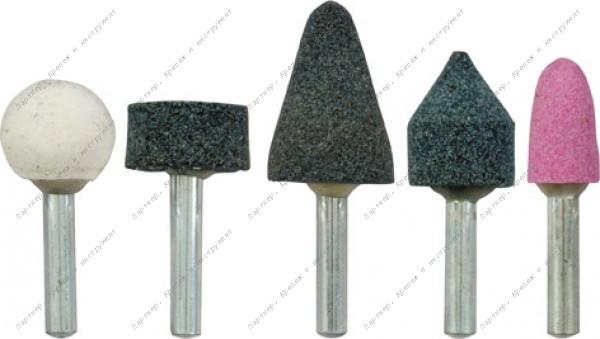 (36465) Шарошки абразивные для фигурных отверстий по камню 5 шт. (малые)