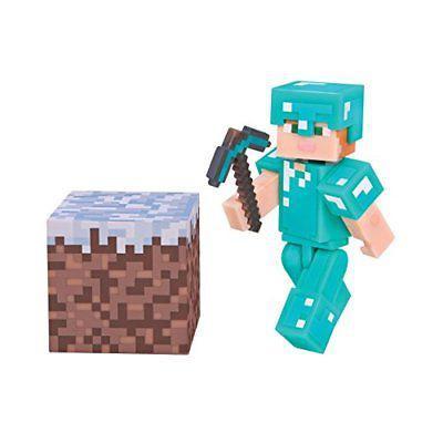 Minecraft Алекс с комплектом алмазной брони (7 см)
