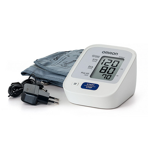 ТОНОМЕТР OMRON M2 Basic (ARU) (манжета 22-32 см, адаптер) автоматический на плечо