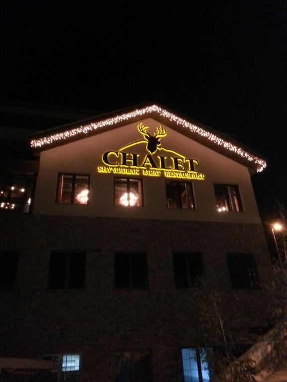 Chalet Shymbulak meat restaurant, Almaty, Kazakhstan.