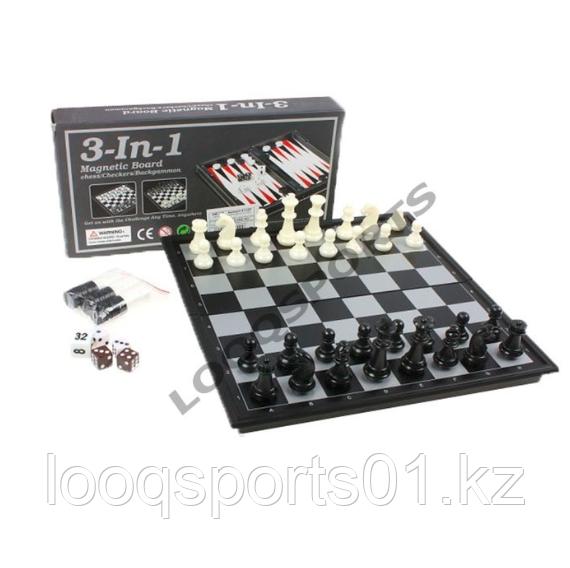 Магнитные шахматы 3 в 1 (25 см х 25 см)