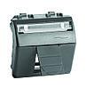 DKC 77613N Адаптер для информационных разъемов Keystone, черный, 2мод.