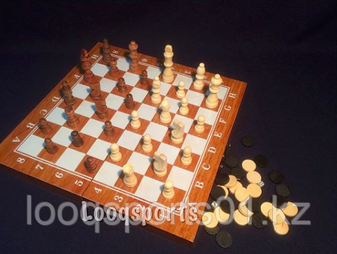 Шахматы Sulida 3 в 1 (34 см x 34 см)