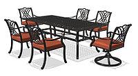Стол и 8 кресел с подушками набор мебели VERNA 8