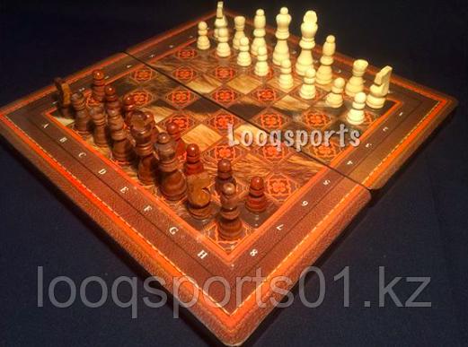 Шахматы 3в1 (39 см х 39 см)
