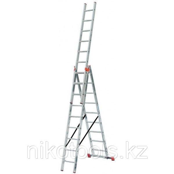 Алюминиевая лестница Tribilo 3х6 S, H=1,9/2,7/3,55м (120595)