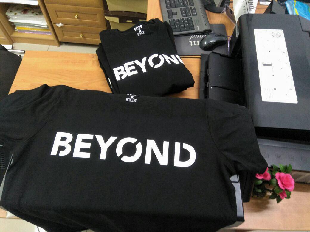 Нанесение логотипа на футболку