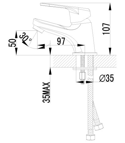 LEMARK Серия LUNA. Смеситель для умывальника монолитный LM4156C - фото 2