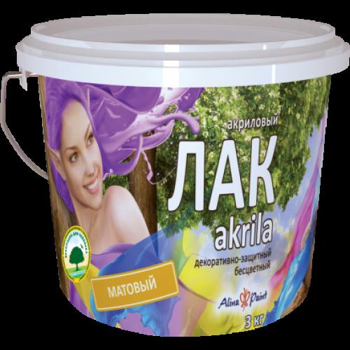 Лак на водной основе матовый Akrila 1 кг