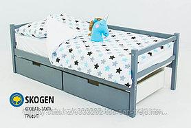 """Детская деревянная кровать-тахта Бельмарко """"Skogen графит"""""""