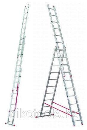 Алюминиевая лестница Corda 3х11, Н=3,1/4,55/6,45м (010421)