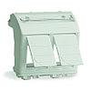 DKC 76614B Адаптер для двух информационных разъемов Keystone, белый, 2мод.