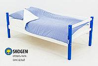 """Детская деревянная кровать-тахта Бельмарко """"Skogen сине-белый"""", фото 2"""