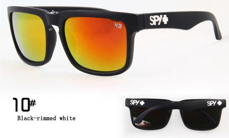 Солнцезащитные очки SPY+  черная оправа, белое лого