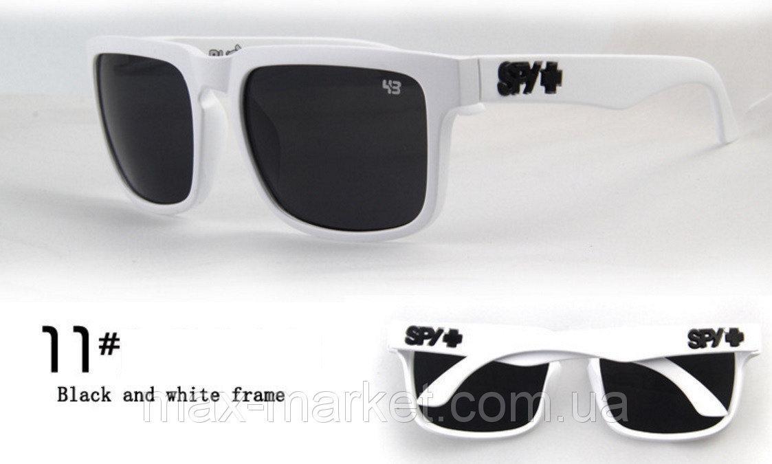 Солнцезащитные очки SPY+ белые черное лого