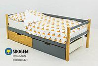"""Детская деревянная кровать-тахта Бельмарко""""Skogen дерево-графит"""", фото 2"""