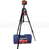 Уровень лазерный, 100 мм, штатив 1300 мм, крутящ. голова ротац., набор в пласт.кейсе 35031 (002)