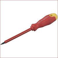 Отвертка STAYER диэлектрическая до 1000Вт, SL 5,5 х 125 мм