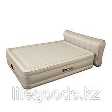 Двуспальная надувная кровать со спинкой и встроенным насосом, Bestway 69019, фото 3