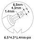 Блок питания для ноутбука Sony, 19.5V 4.74A, 92W, 6.5x4.3 mm, фото 3