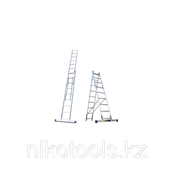 Алюминиевая лестница 2х10, Н=4,8/5,9м (5210)