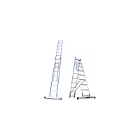 Алюминиевая лестница 2х10, Н=4,8/5,9м (5210), фото 1