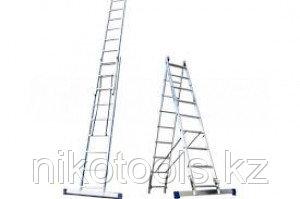 Алюминиевая лестница 2х15, Н=7,6/8,7м (6215)