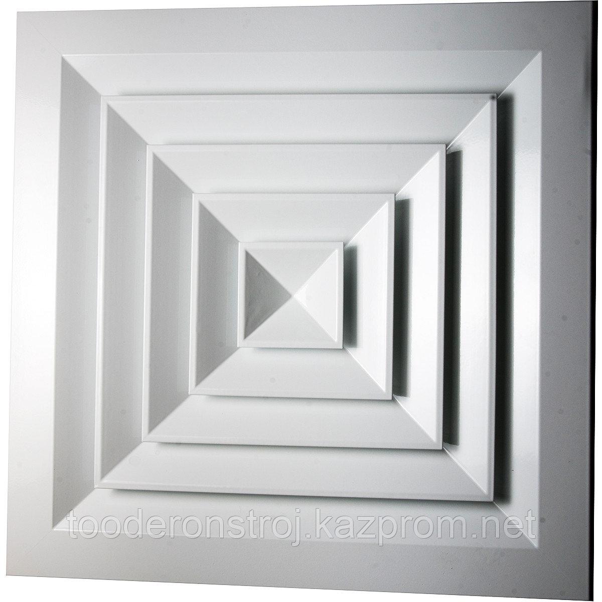 Диффузор потолочный квадратный RAD (не регулируемый)  150*150