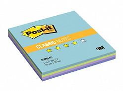 """Клейкие листки POST-IT """"Аква радуга"""" 76 х 76 мм, 100 листов"""