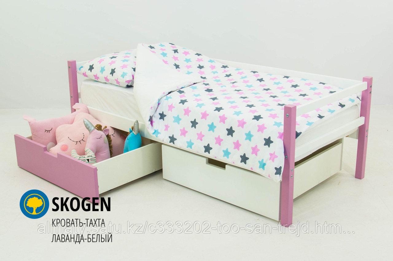 """Детская деревянная кровать-тахта Бельмарко""""Skogen лаванда-белый"""""""